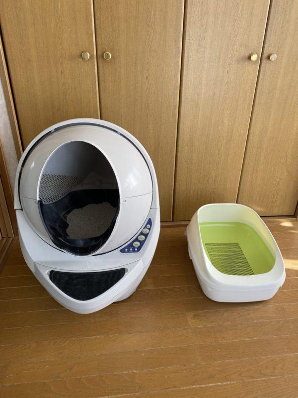 キャットロボットオープンエアーと通常のトイレ